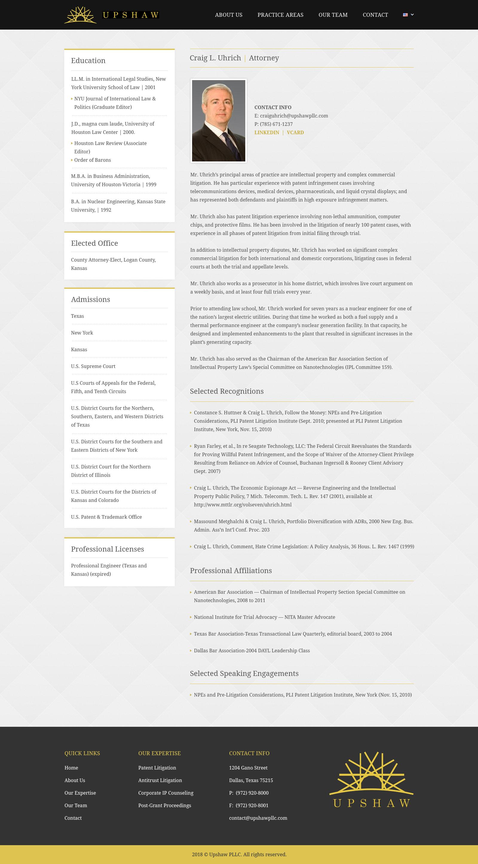 Attorney Bio Page