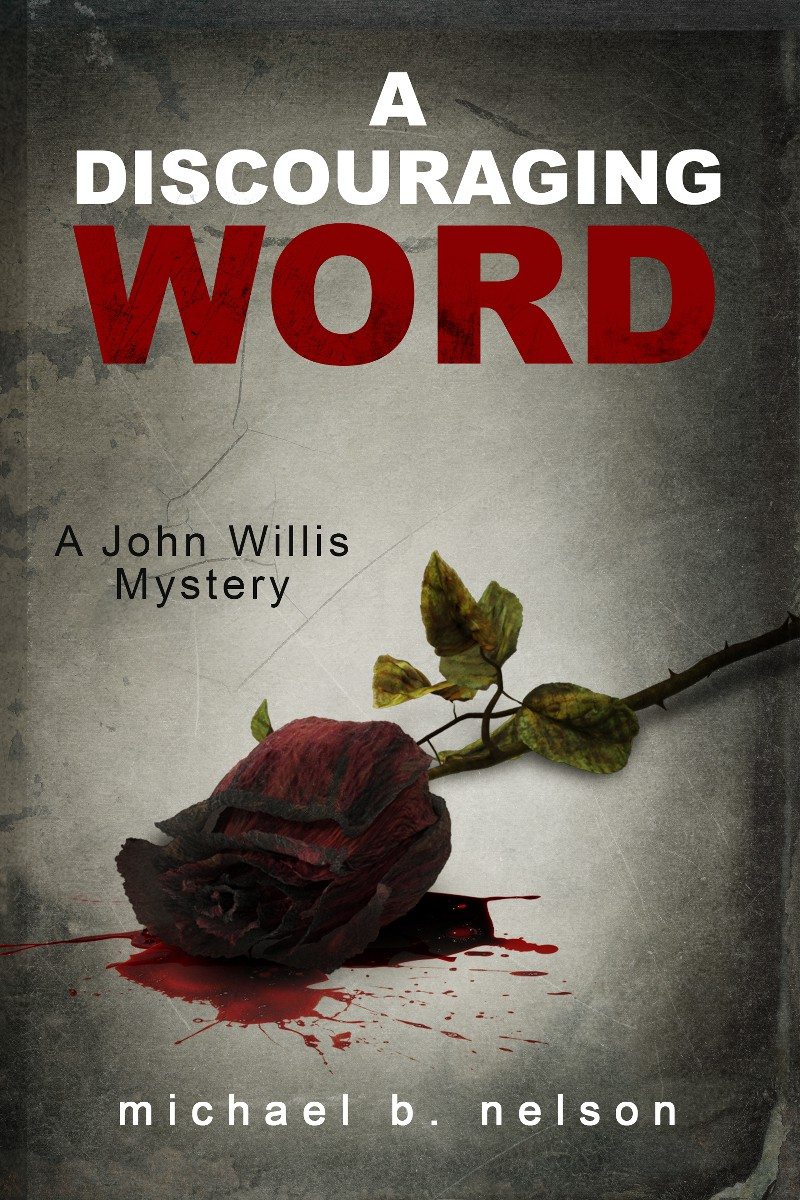 Design a Book Cover for the Mystery 'A Discouraging Word.'