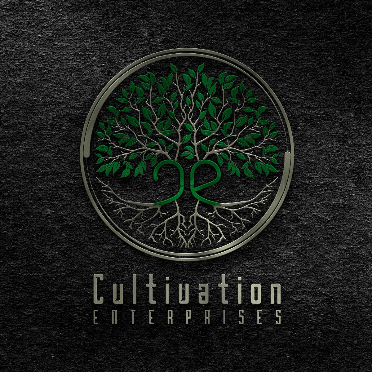 Combine a tree and a circle to form the logo for Cultivation Enterprises