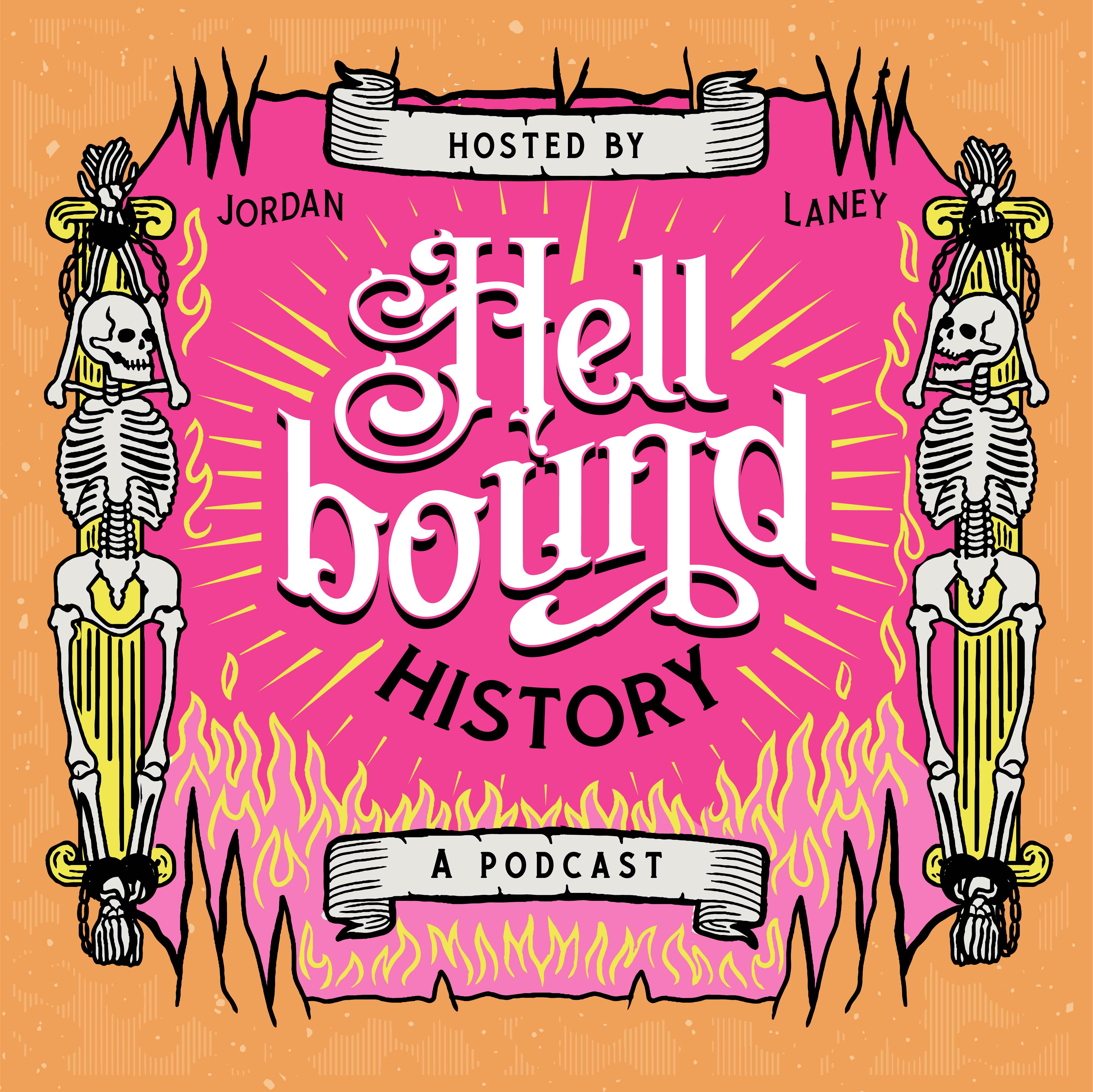 History podcast seeking dark and twisted, vintage inspired cover art.