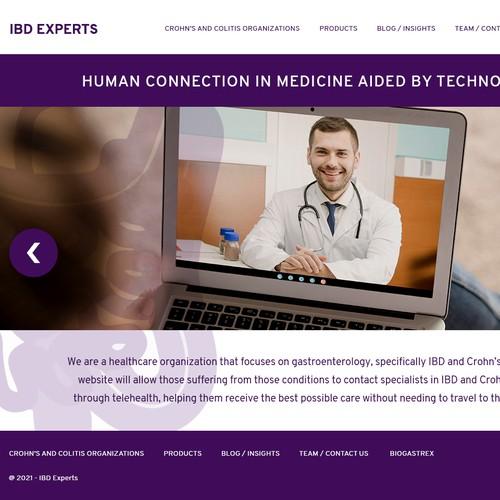 Telehealth product web design