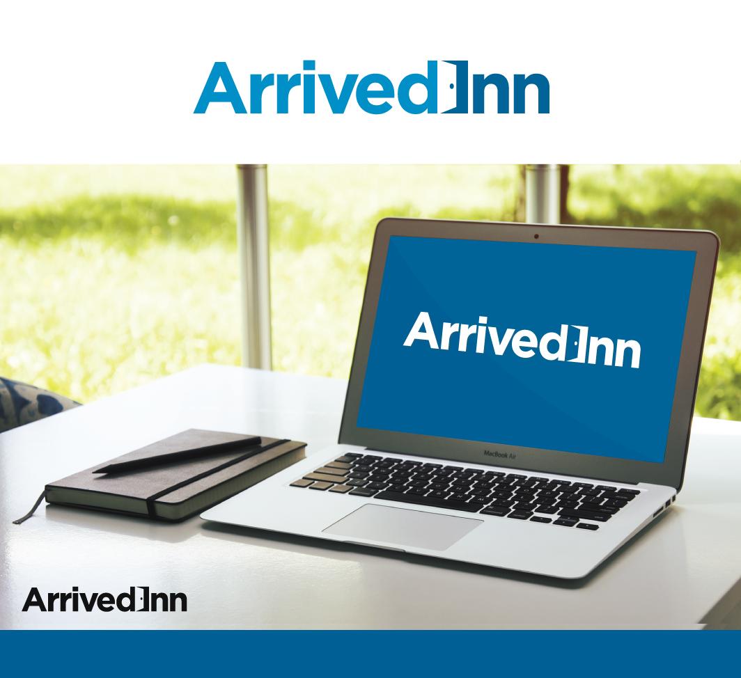 Create a well-balanced, aesthetically pleasing logo for ArrivedInn