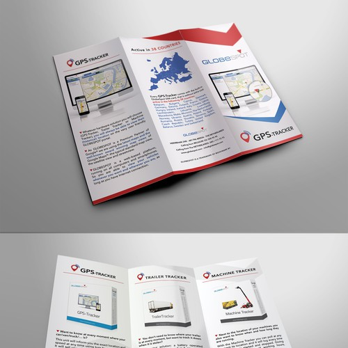 Trifold A4 Flyer for GPS-TRACKER solution
