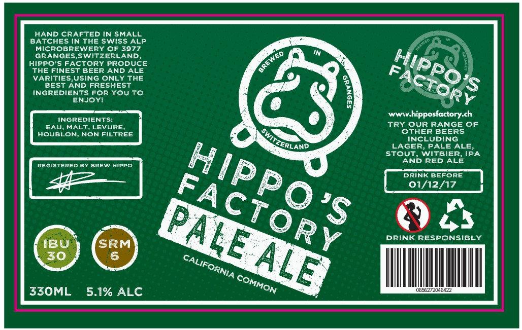 First label for new Swiss Alps handcrafted beers
