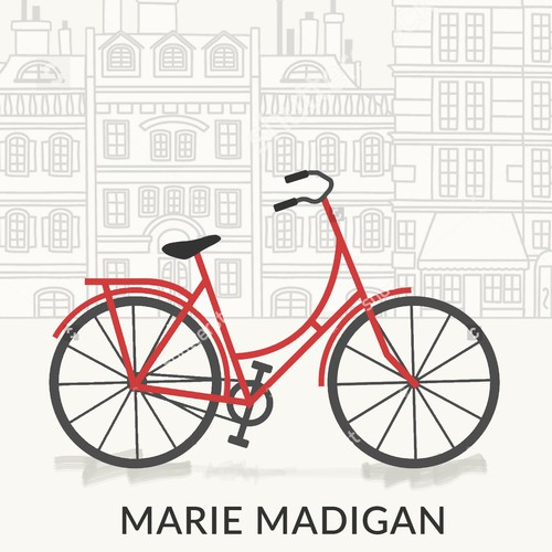 Create a captivating book cover about a cycling journey through France