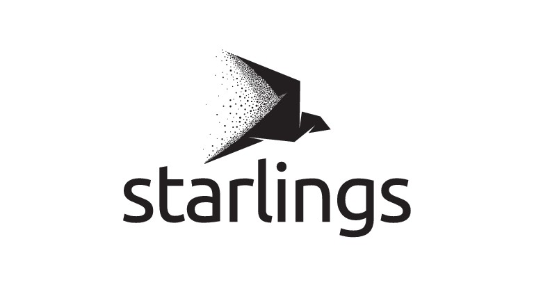 Create a murmuration-inspired logo for Starlings!