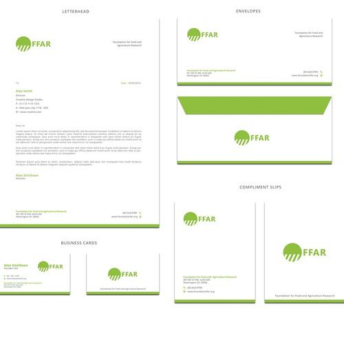 Brand identity design for FFAR