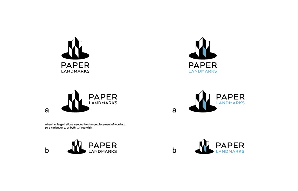 A new logo for an architectural paper modelling company