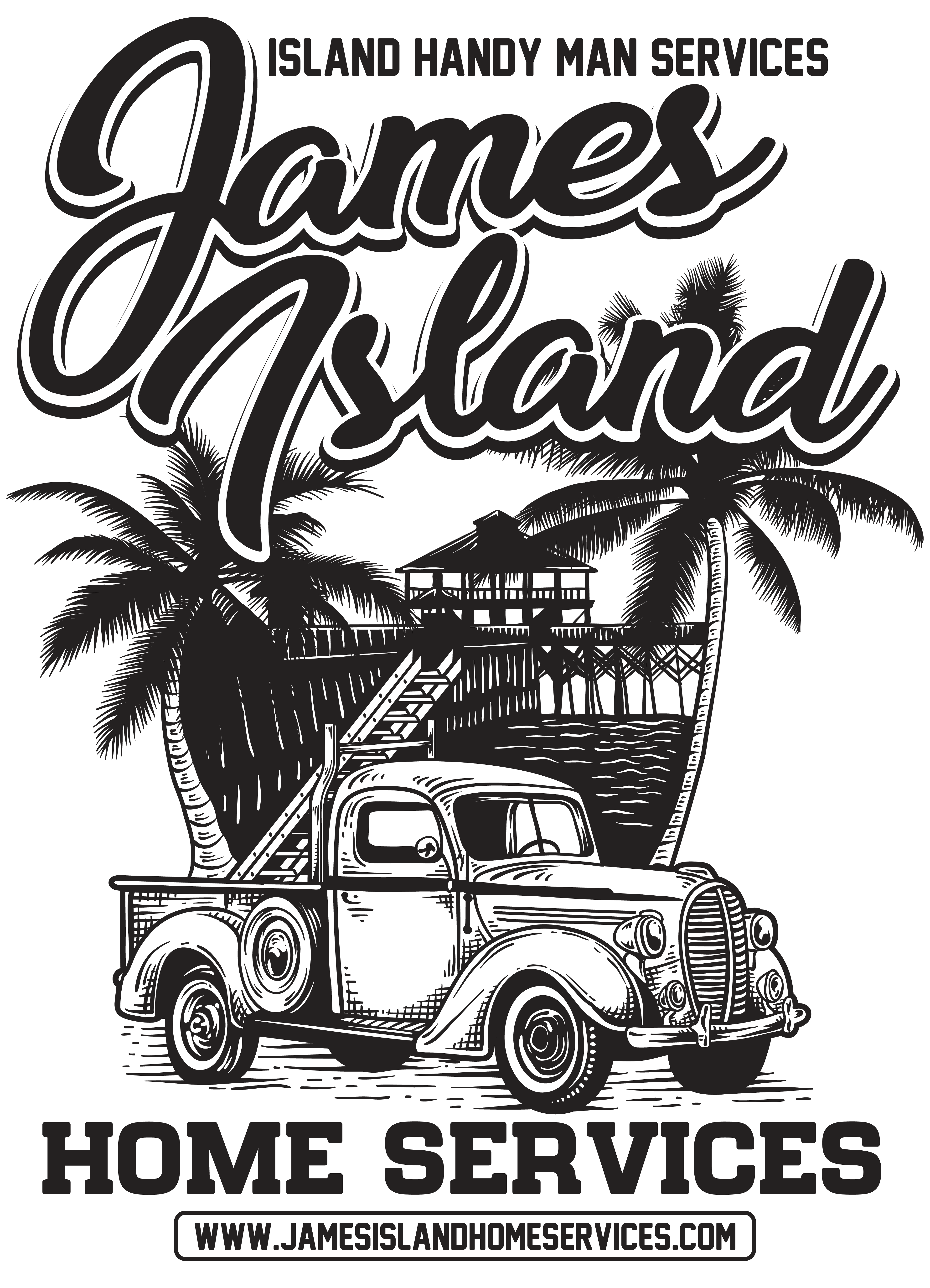 Retro Surf style for island handy man business