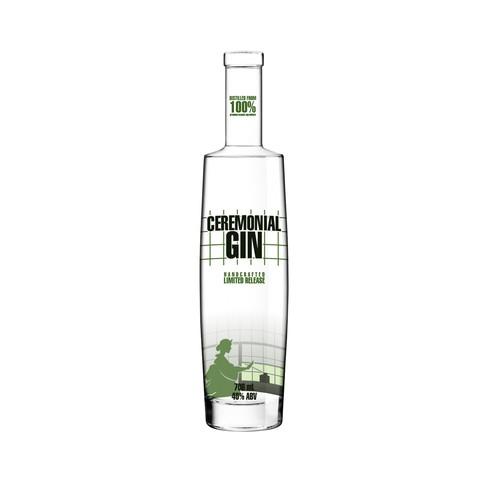 Gin bottle label