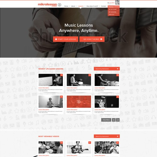 Renovate the website for online music school