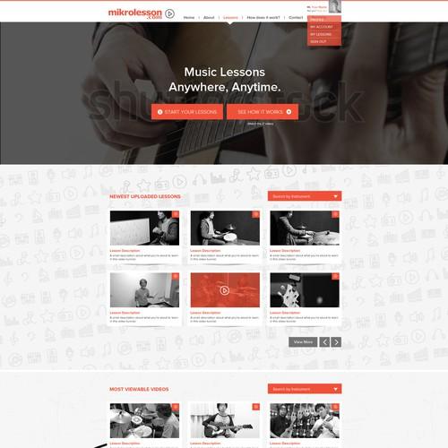 Renovate the website for online music school