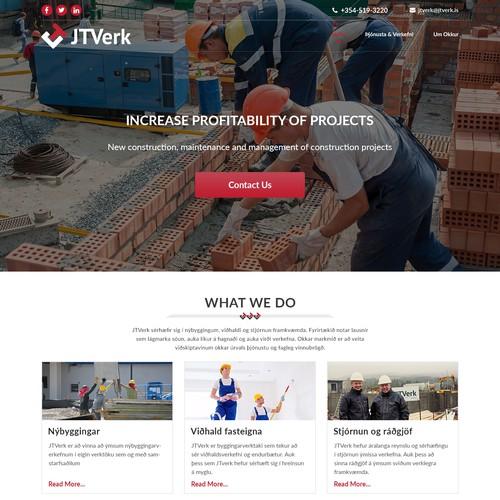 construction contractor website