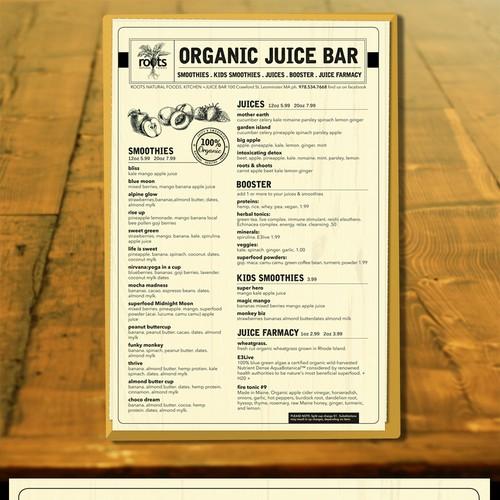 vintage menu design