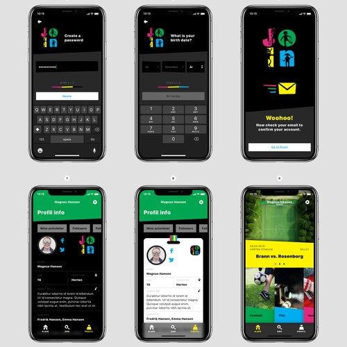 App design for Norway's biggest platform for youth