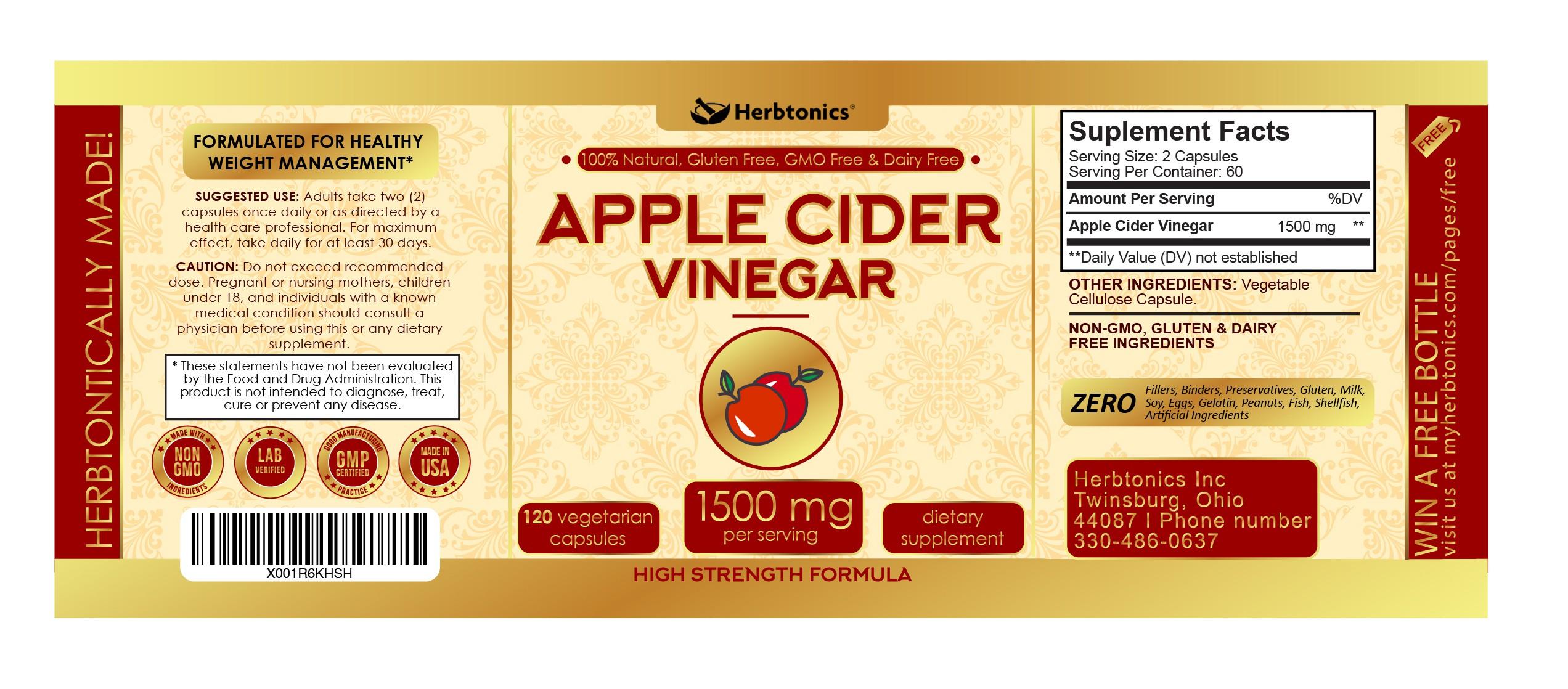 Apple Cider Vinegar 1500mg