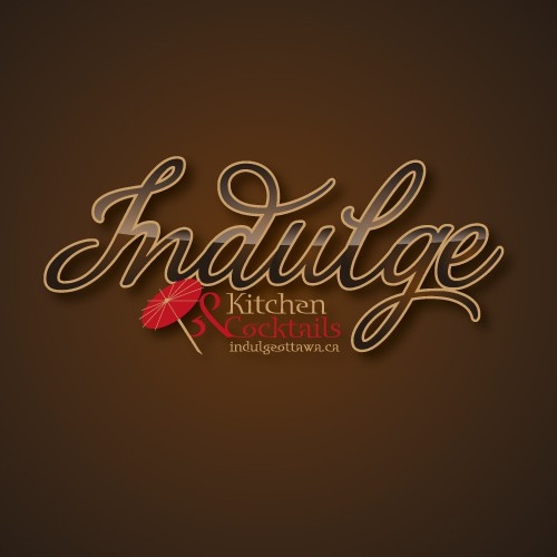 Create the next logo for Indulge Kitchen & Cocktails