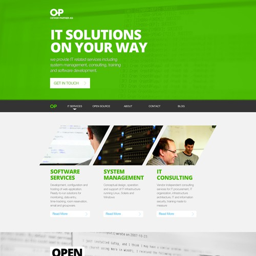 Webdesign for Swiss IT Service and Open Source Company