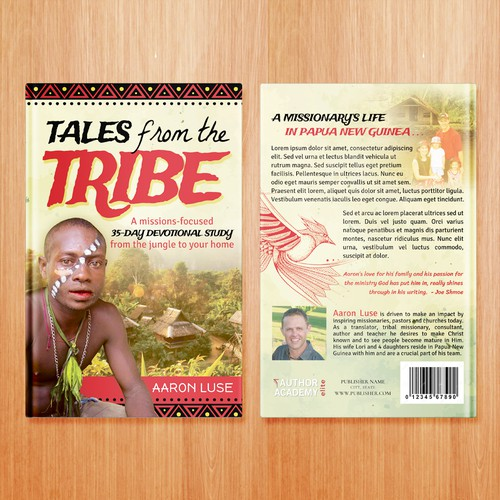 African Tribe Book Cover Design