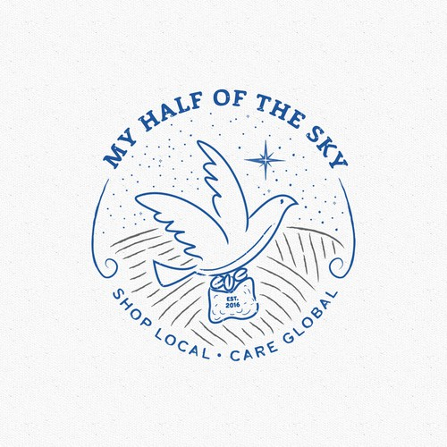 Symbolic logo concept for social justice coffee shop