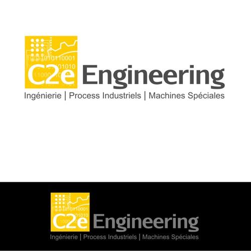 Créez le/la logo and business card suivant(e) pour C2e Engineering
