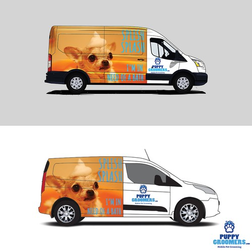 Van Wrap for Dog Grooming Company