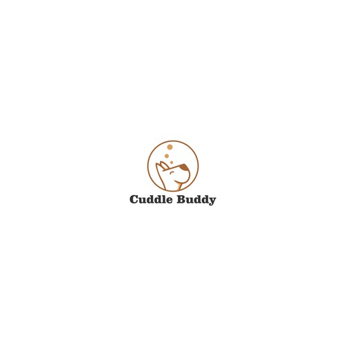 Design a playful logo for Cuddle Buddy: a weighted lap blanket for sensory kids