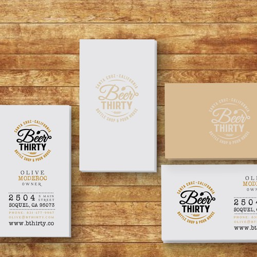 Business Card Needed for Craft Beer Bar