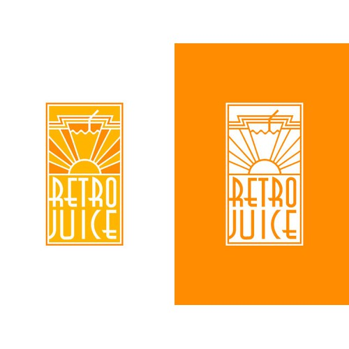 Create a Retro Art Deco logo for fresh squeezed juice company