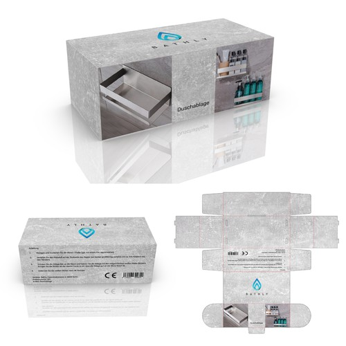 Package for Simple, Modern Bath Caddy