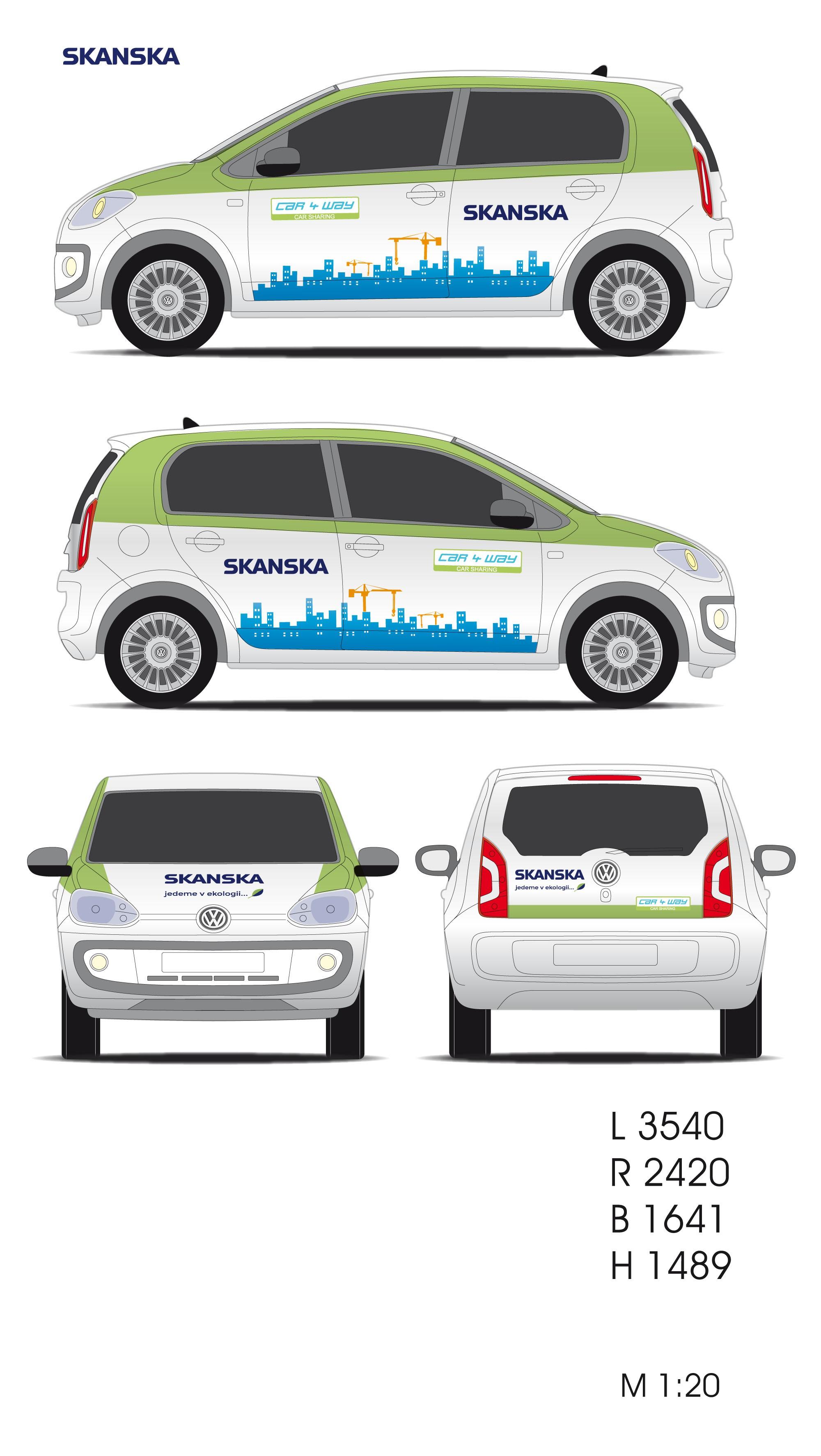 Design for our E-car (VW e-UP) needed!