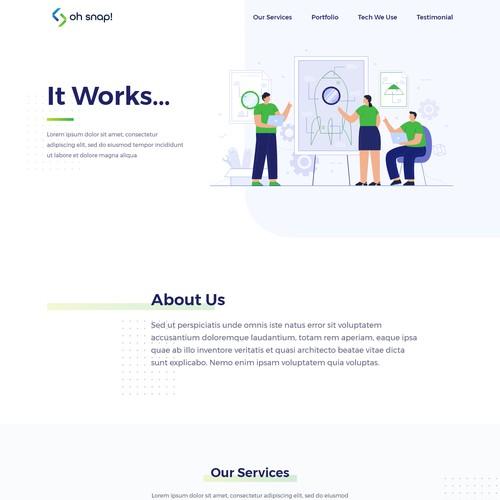 Tech Company Landing Page