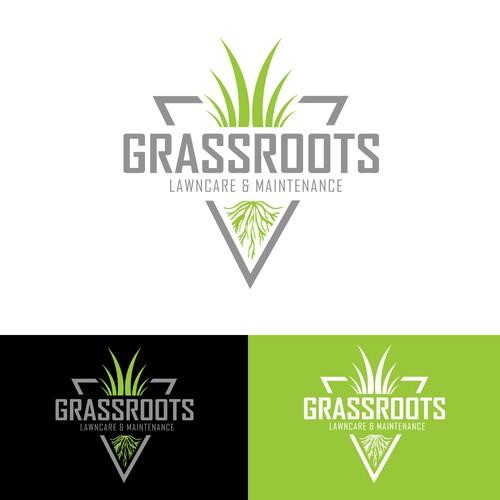 Logo Design for Grassroots Lawncare & Maintenance