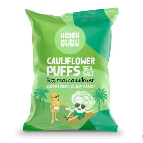 Illustration of an existing cauliflower puff bag