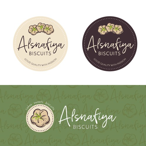 A logo for a bakery specializing in biscuits