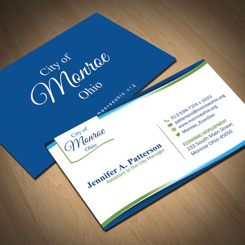 Rapidly growing Ohio community needs new business card design