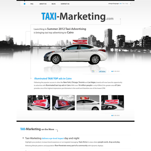 website design for Taxi-Marketing  Taxi-Marketing.com