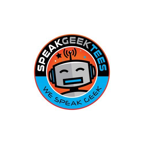 Logo design for Speak Geek Tees