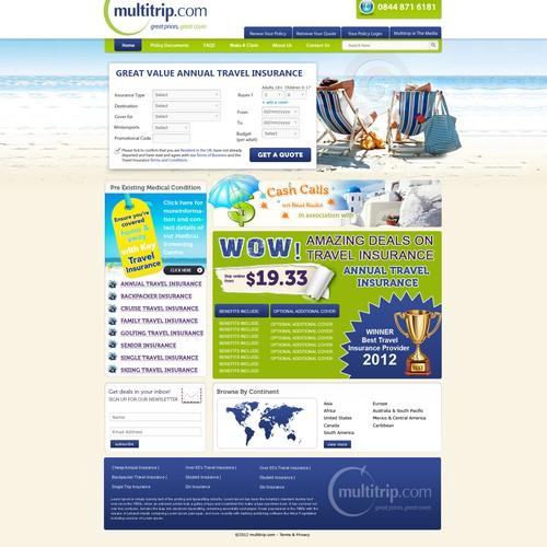 Create the next website design for www.multitrip.com