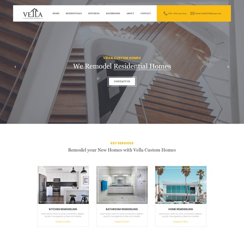 Home Page for Vella Custom Homes