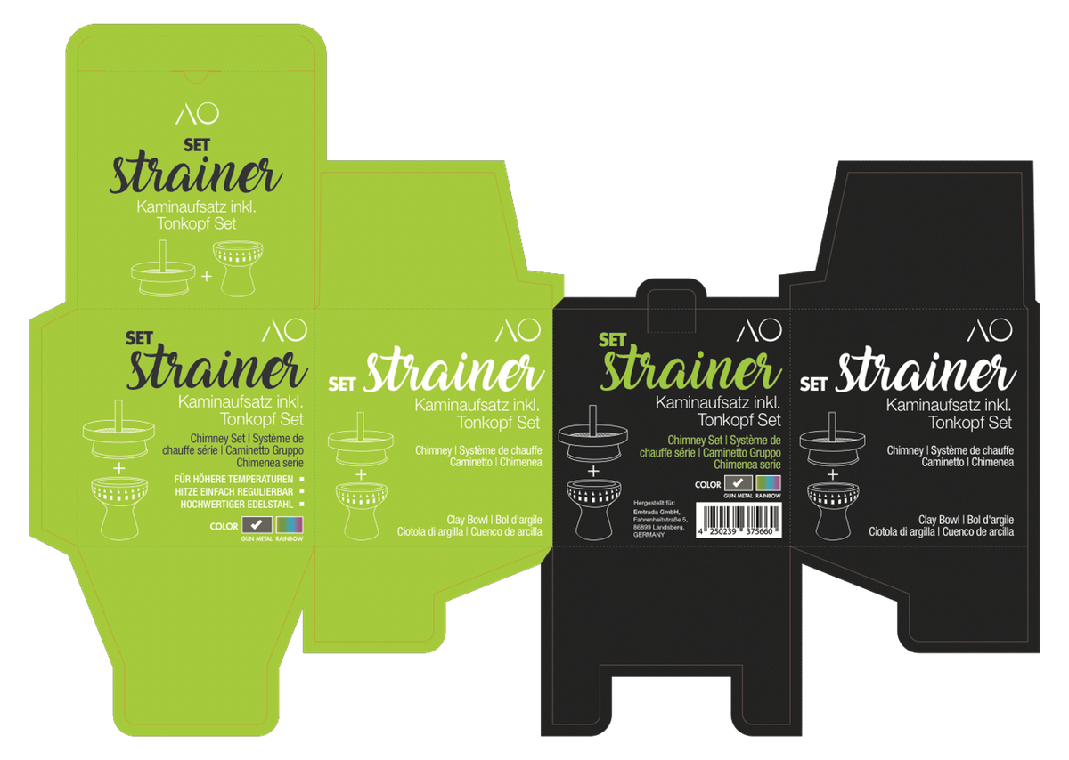 AO STRAINER Set and Single Packaging