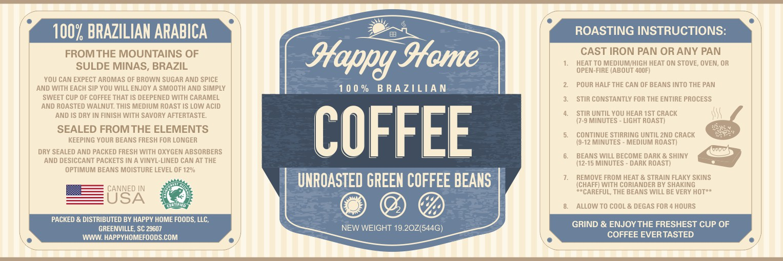Create an Incredible Coffee Can Label for Happy Home