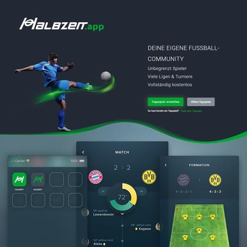 Logo concept for Halbzeit (Halftime) an live score app