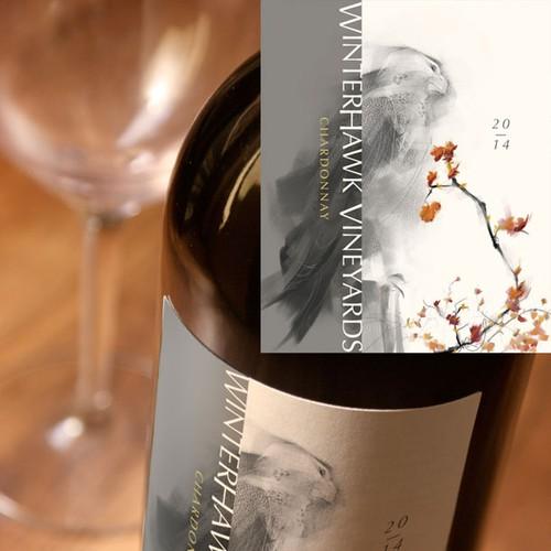 Label for natural Boutique Vineyard