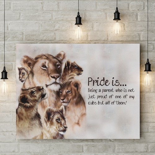 Create Lioness & Cubs Canvas For Art Store