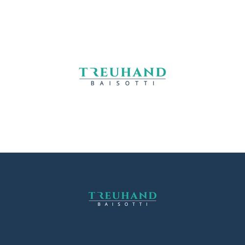 minimalister Schriftzug für einen Treuhändler