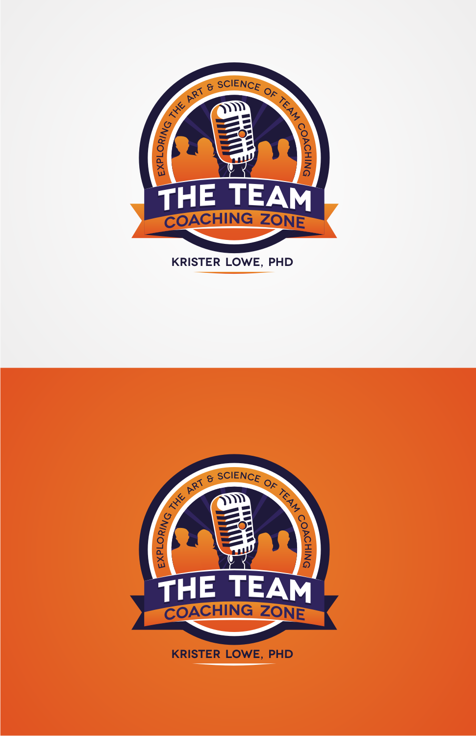 Design an inspiring/dyanmic logo for my podcast: The Team Coaching Zone