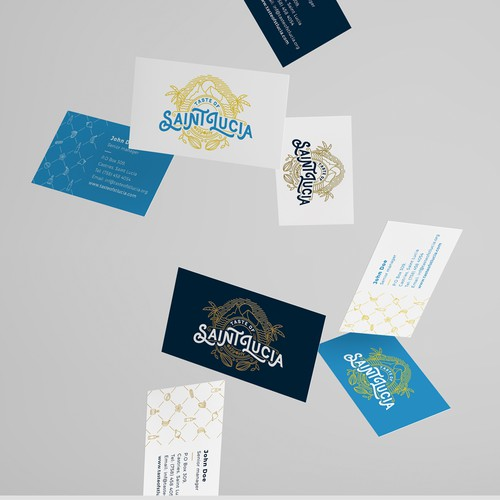 Logo, stationery, brochure and site concept for Taste of Saint Lucia