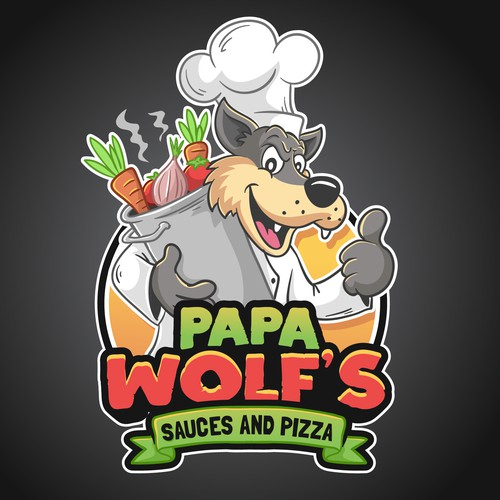 Papa Wolfs logo