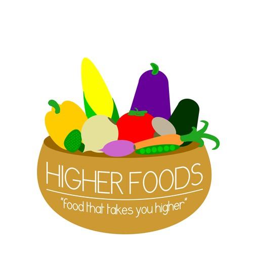 cheerful vegan restaurant logo